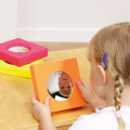 Foam Surround Mirror Set of 5,sensory mirrors,special needs mirrors,autism toys,hexagonal softie mirrors,early years mirrors,understanding the world,early years resources, educational resources, educational materials, childrens learning resources, childrens learing materials, teaching resources for children, teaching material for children